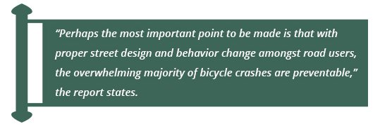 bicycle crashes are preventable