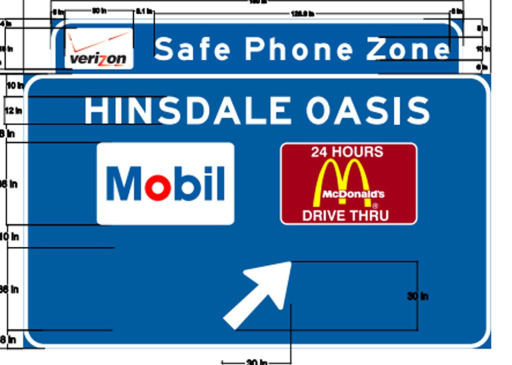 Illinois safe phone zone sign