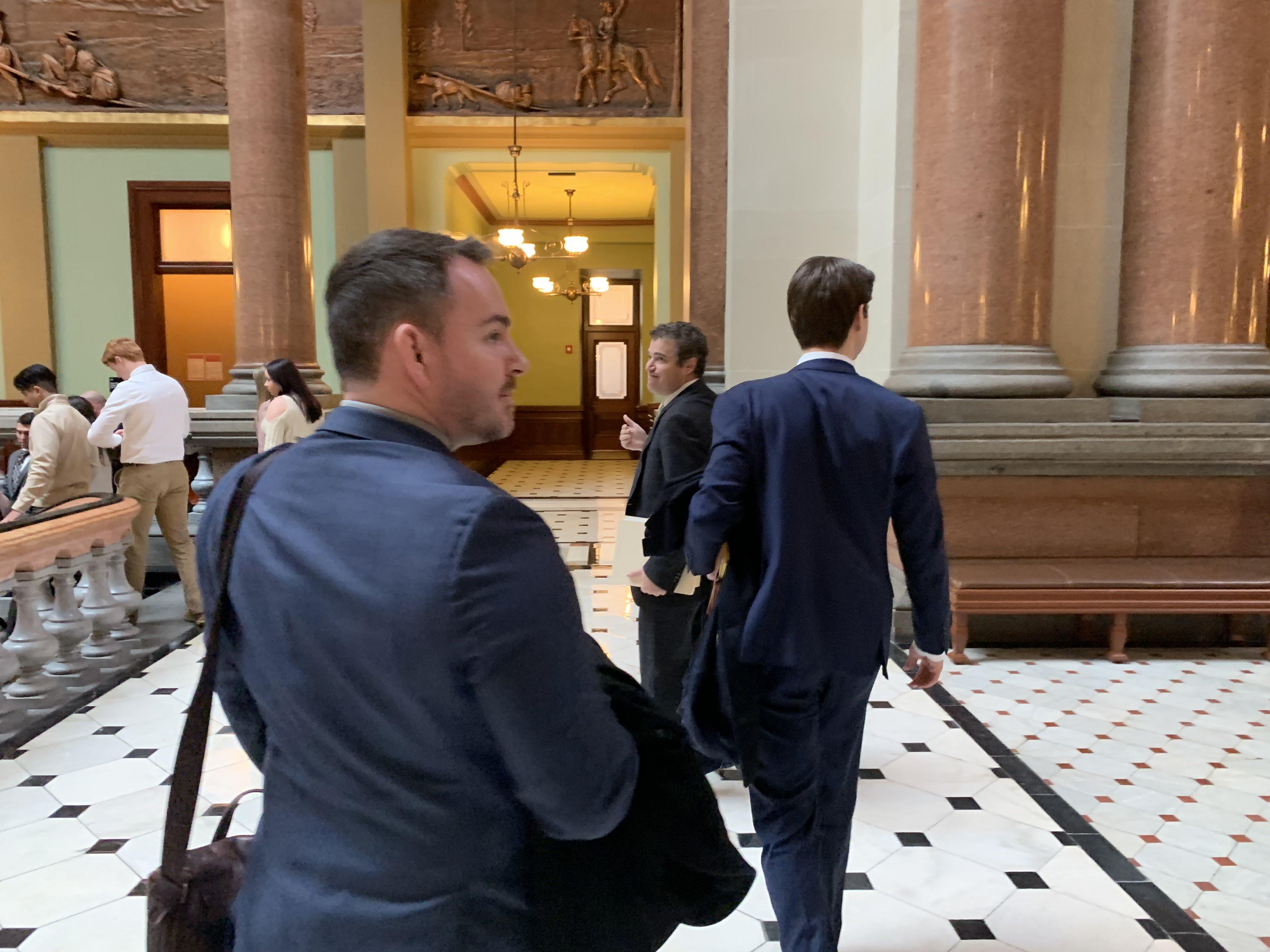 Salvi Lawyers inside the Courthouse