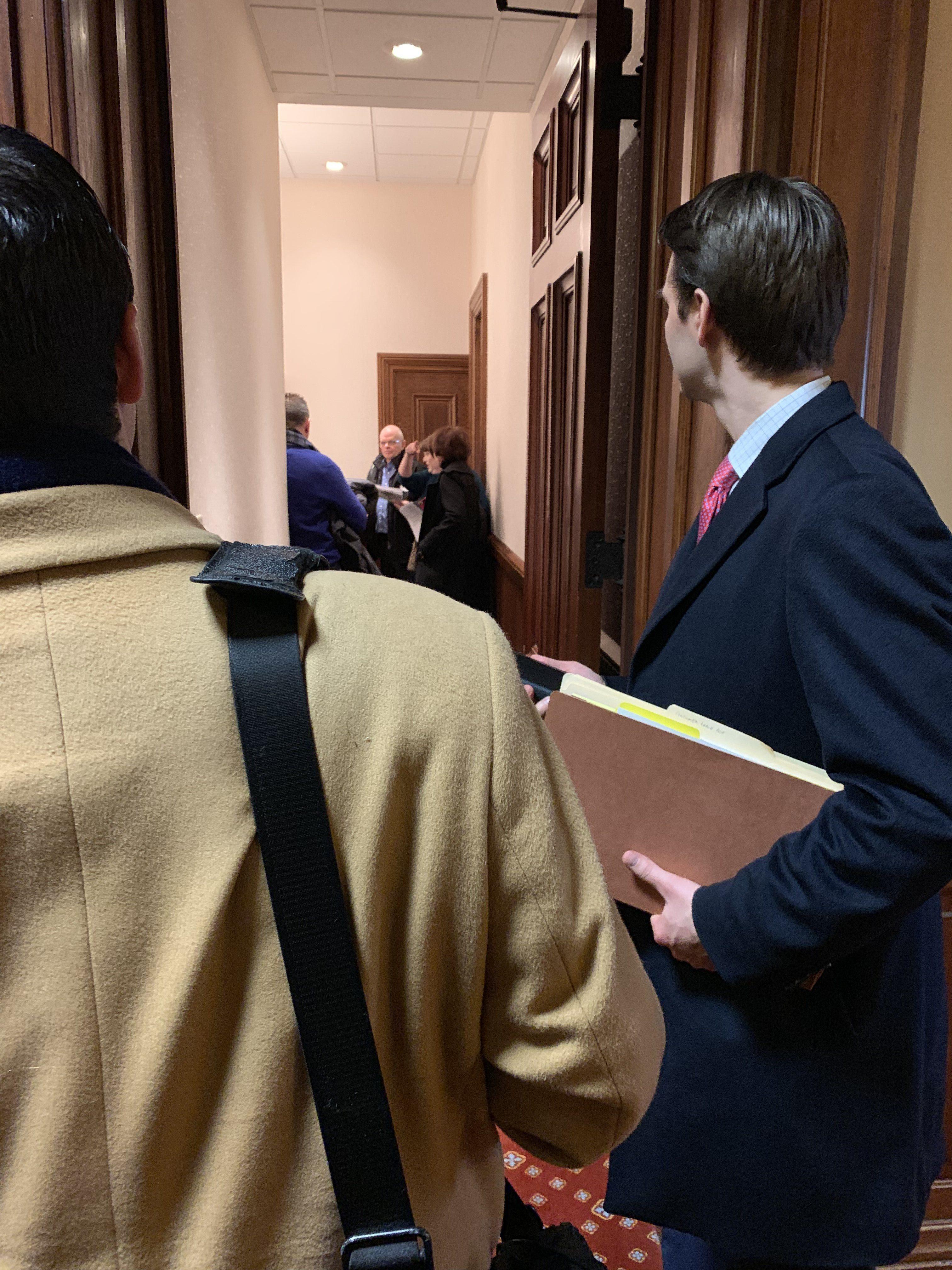 Patrick Salvi II Attending Stop Sterigenics Lobby Day