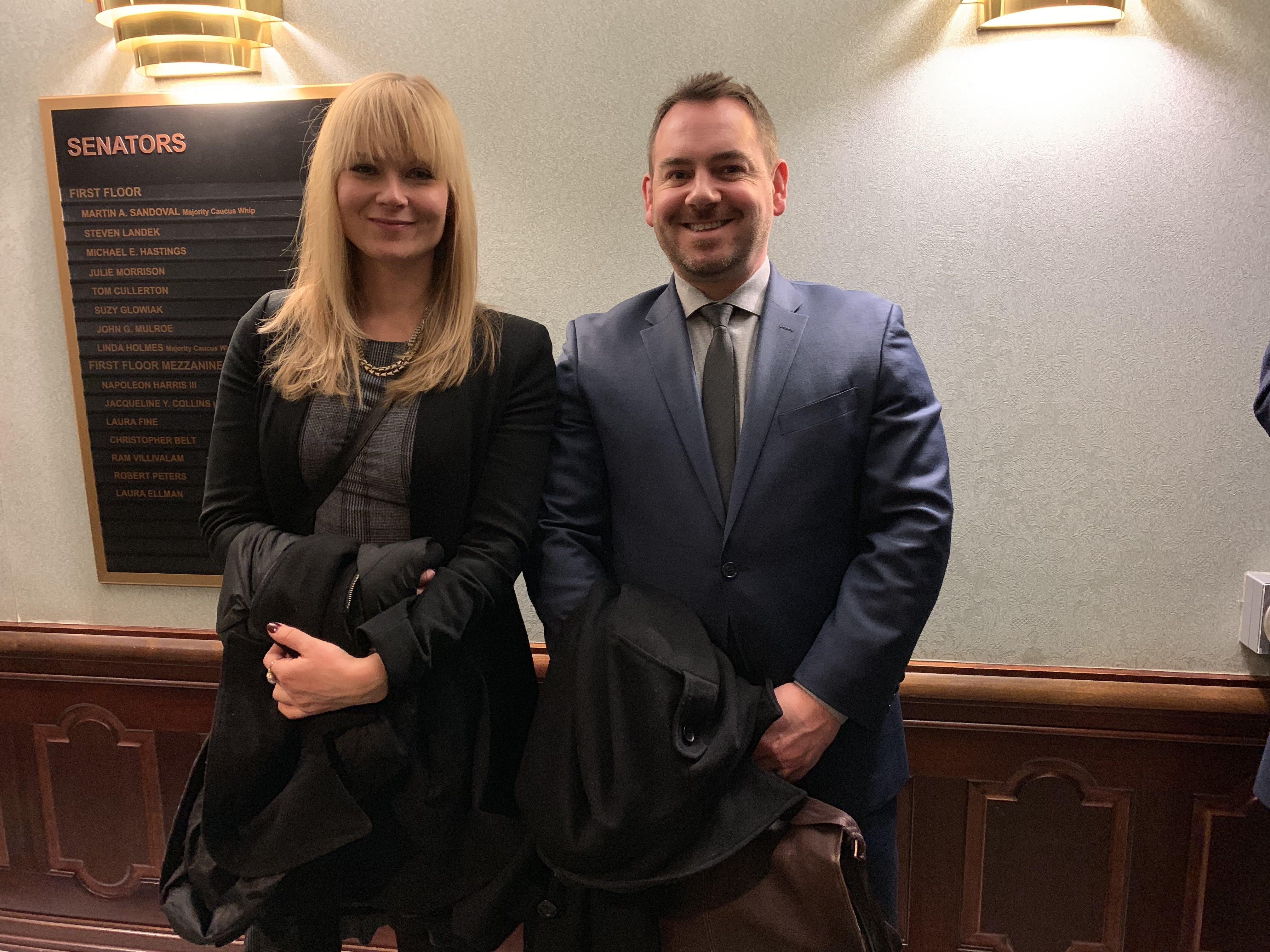 Attorney Heidi Wickstrom and Attorney John Mennie