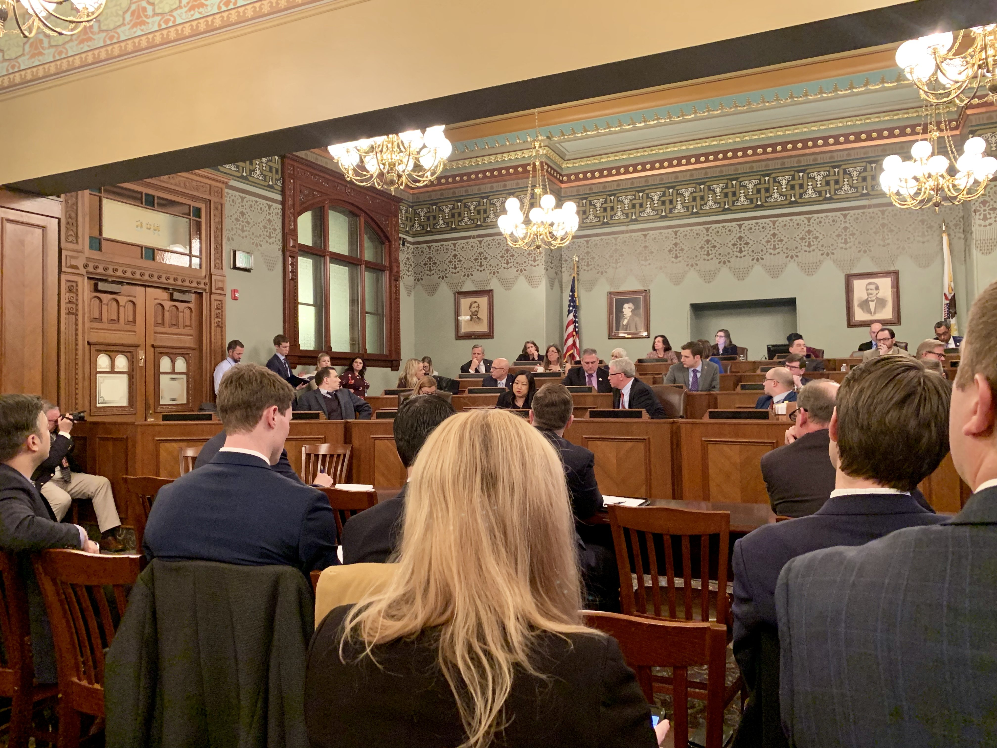 Courtroom of Stop Sterigenics Lobby Day