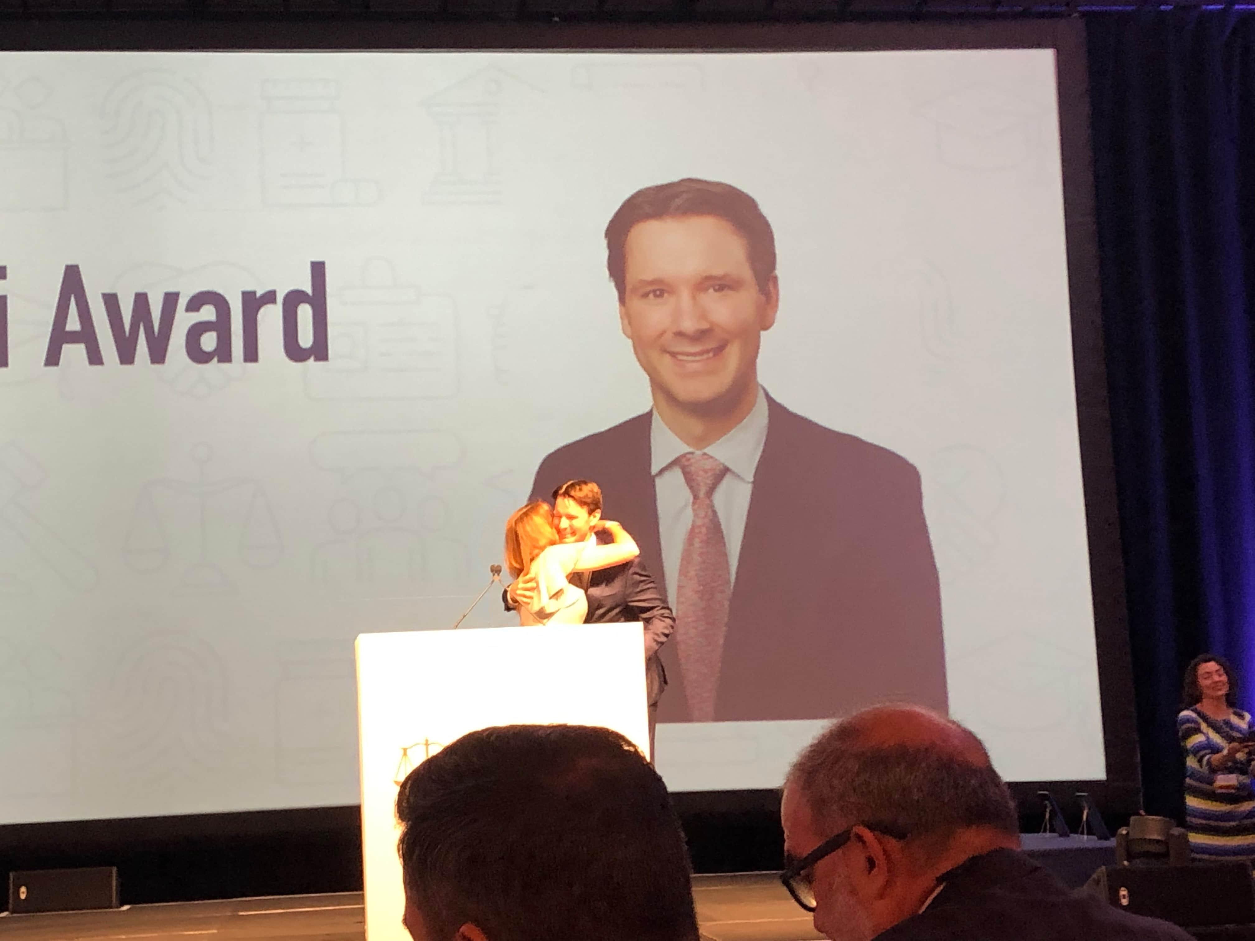 Patrick A. Salvi II Accepting Wiedemann & Wysocki Award